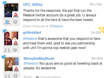 People appreciate Reebok's approach towards Social Media