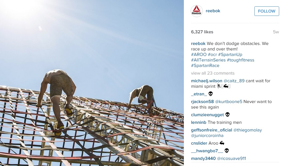 Best Practice Instagram Post Spartan Hashtags