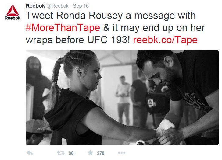 Create high quality content to engage your audience. We asked fans to write an inspirational message for Ronda Rousey's tape for her next battle. She was moved to tears by the tape and thousands of powerful words of encouragement.