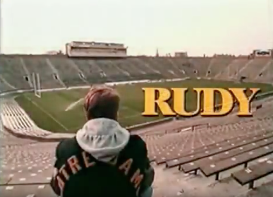 "The movie ""Rudy"" captured my imagination and fueled my inner cheerleader."