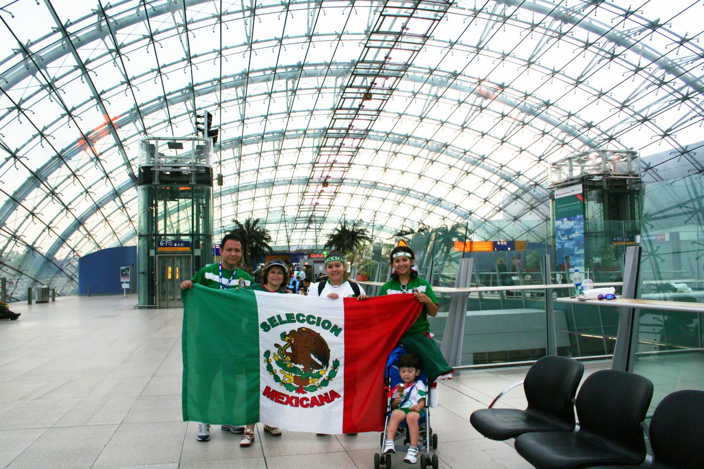 Mexico fans before world cup