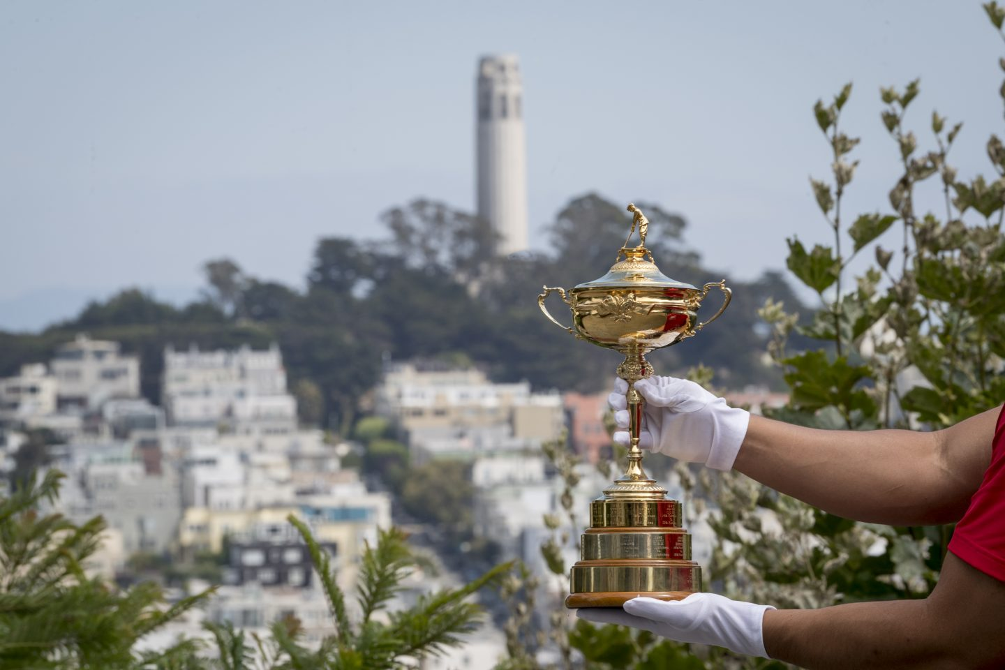 The Ryder Cup trophy is displayed for viewing by fans and tourist on September 6, 2018 in San Francisco, California, Ryder cup, sport, golf, competitive sport, goals, motivation, adidas, GamePlan A