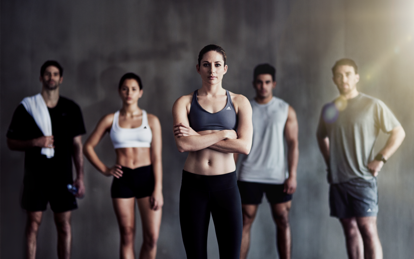 Athletes ready for workout staring into the camera bursting of confidence, confidence, trust, athletes, workout mode, out of your comfort zone, adidas, GamePlan A, boost confidence
