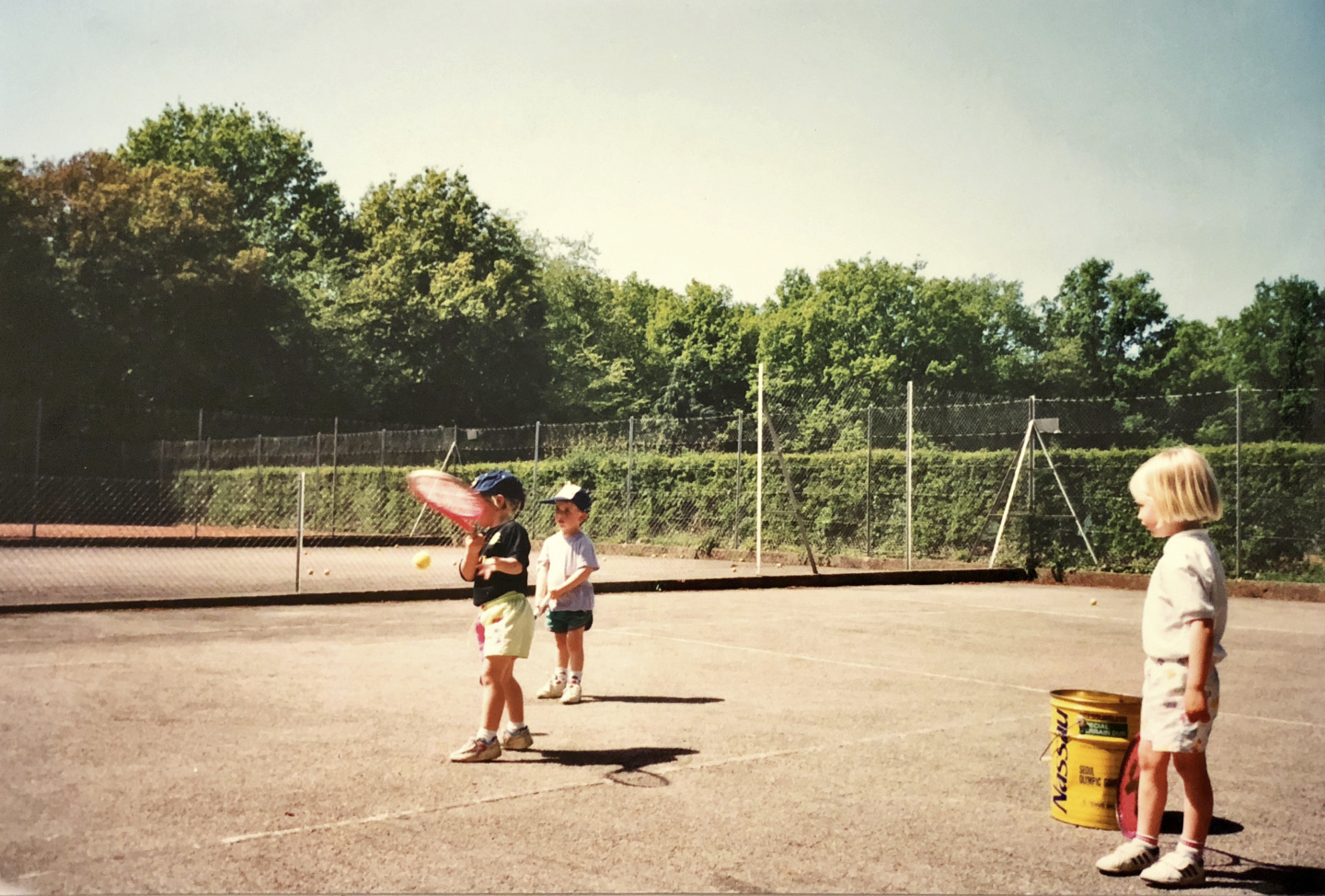Children playing tennis outside, young, children, tennis, sports, active, GamePlan A