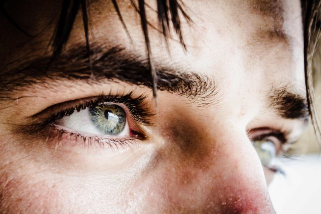 Close-up of a man's eyes, looking into the horizon. Seeing, perspective, guiding, GamePlan A