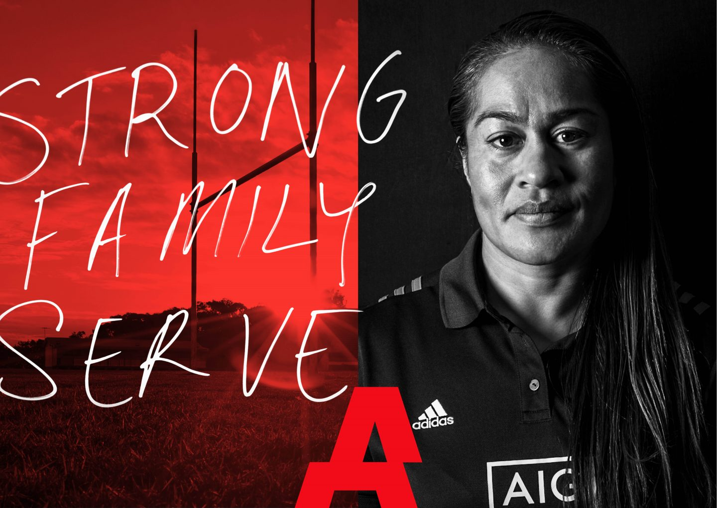 Black Ferns captain head shot. leadership, strong, family, serve, GamePlan A