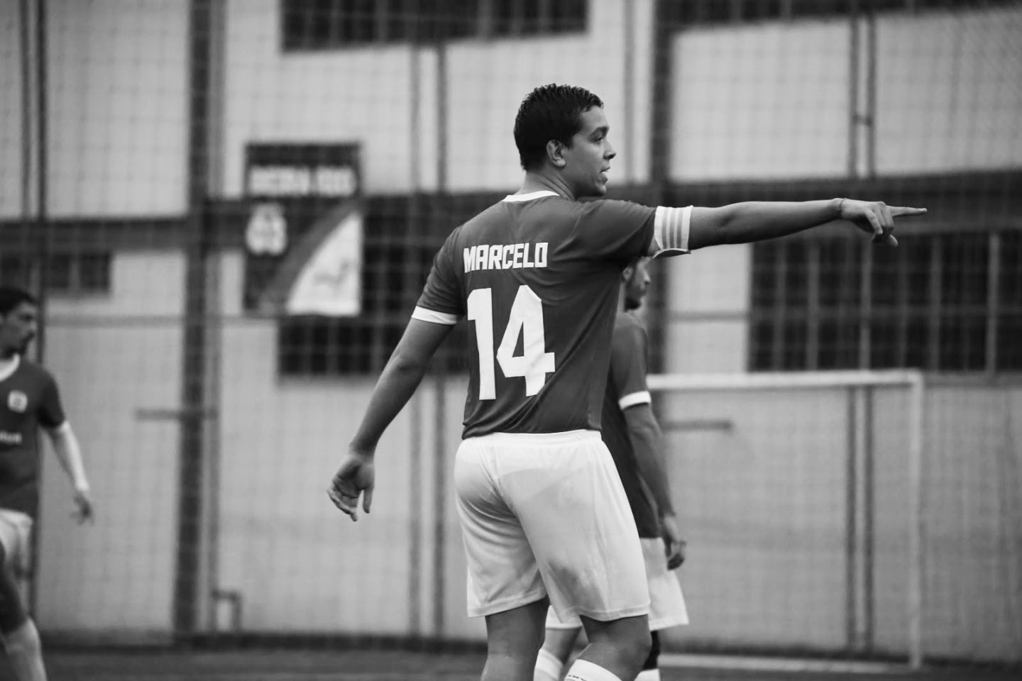 Marcelo Leite during an indoor soccer game pointing at something   Fear of change
