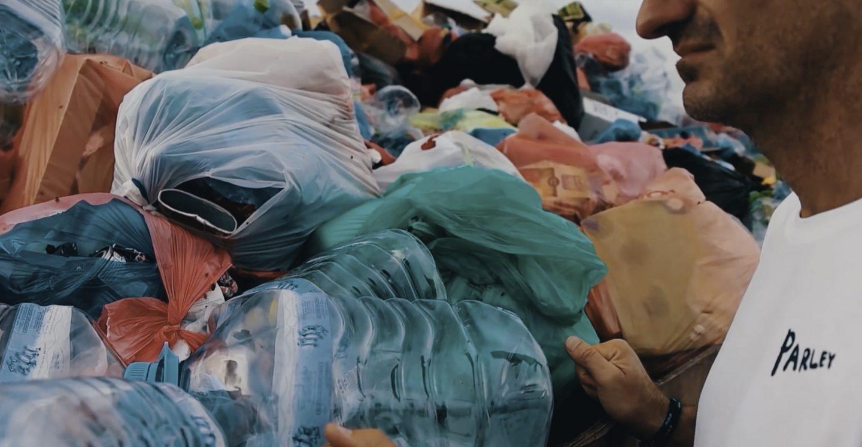 Pile of ocean plastic