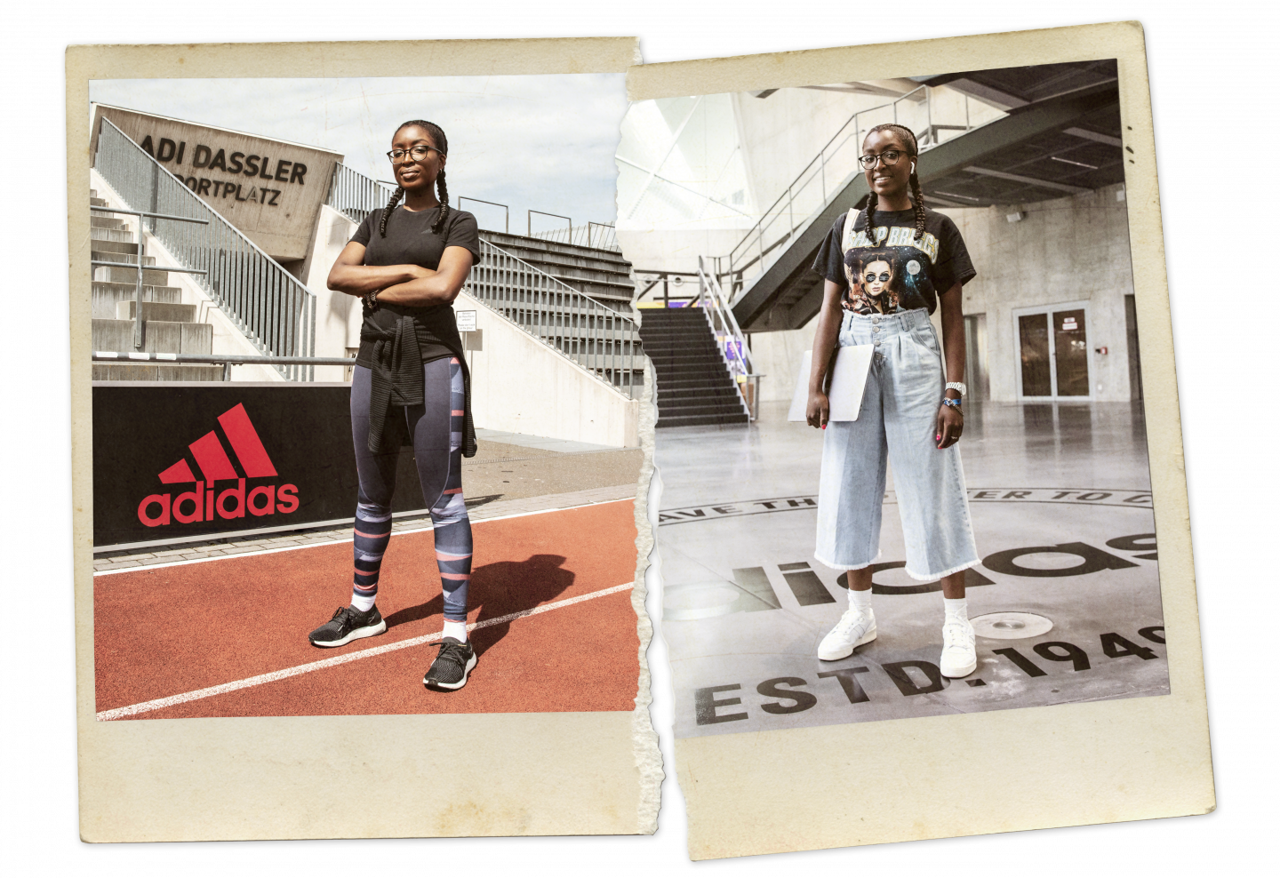 Business athlete Tobi Gbile at the adidas headquarters living workplace culture in both career and sports