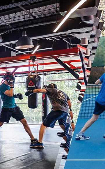 adidas employee boxing at adidas headquarter showing the workplace culture at adidas