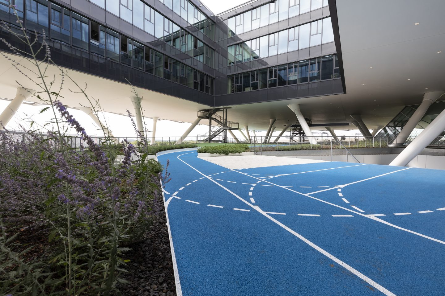 running track at adidas' new Arena building at their global HQ