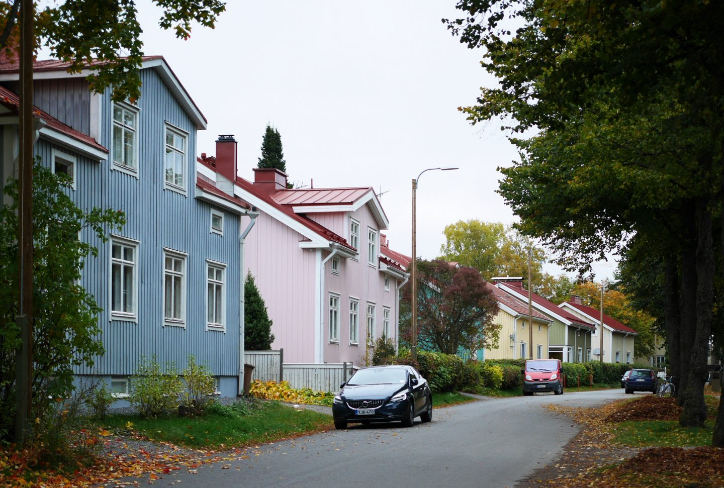 Empty street with pastel houses. mindfulness, grief, GamePlan A