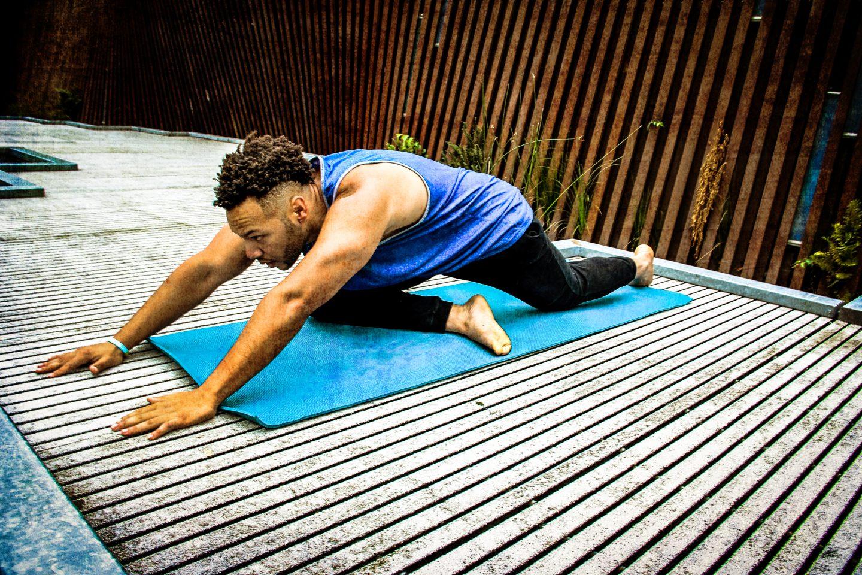 yoga, yoga mat, stretch, yoga pose, athlete
