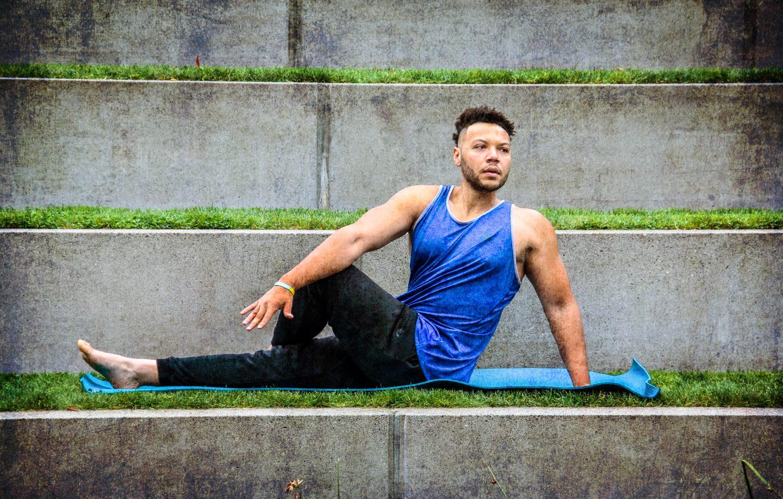 yoga, yoga mat, athlete, yoga pose