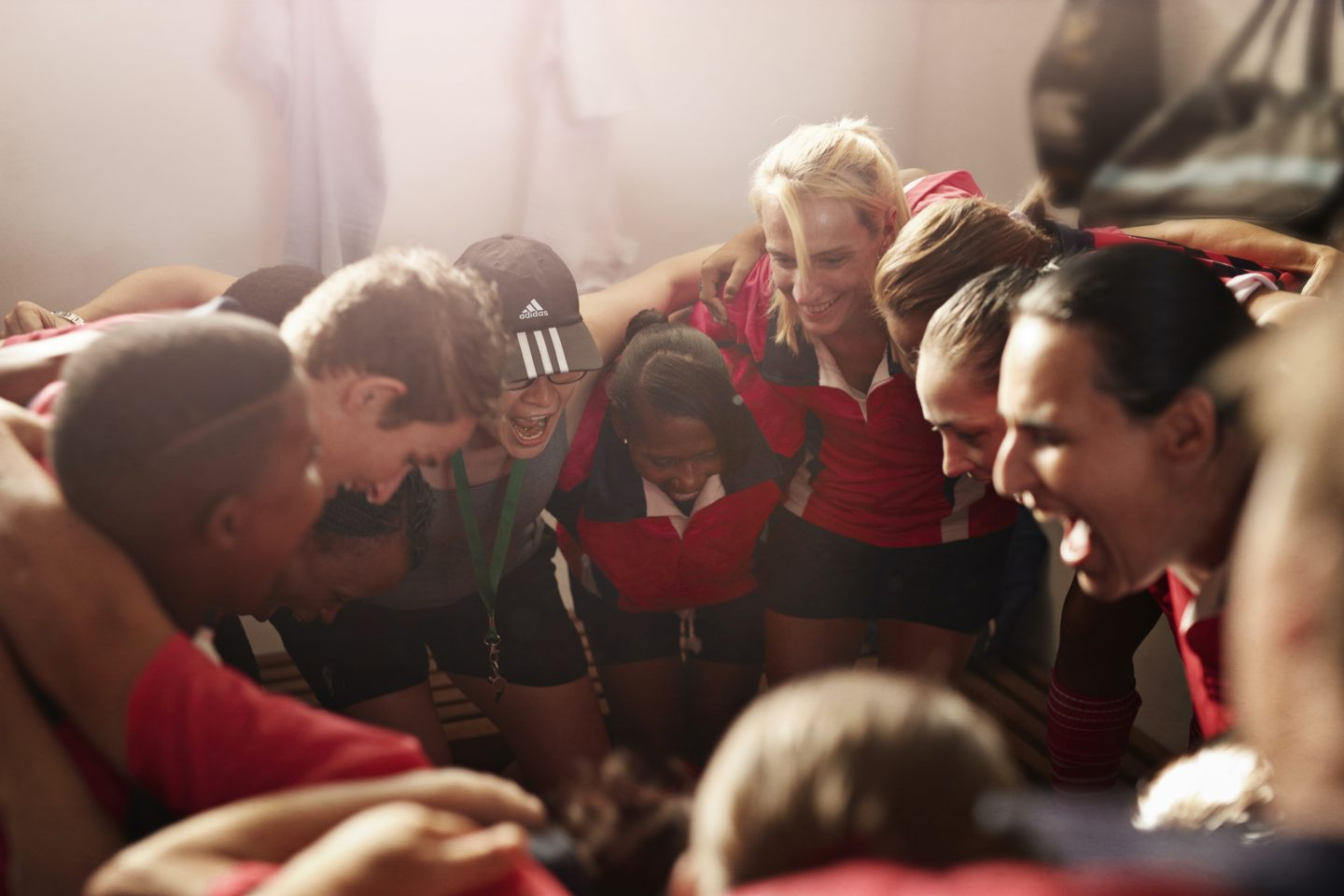 team in a circle pep talk motivate team know what makes them tick