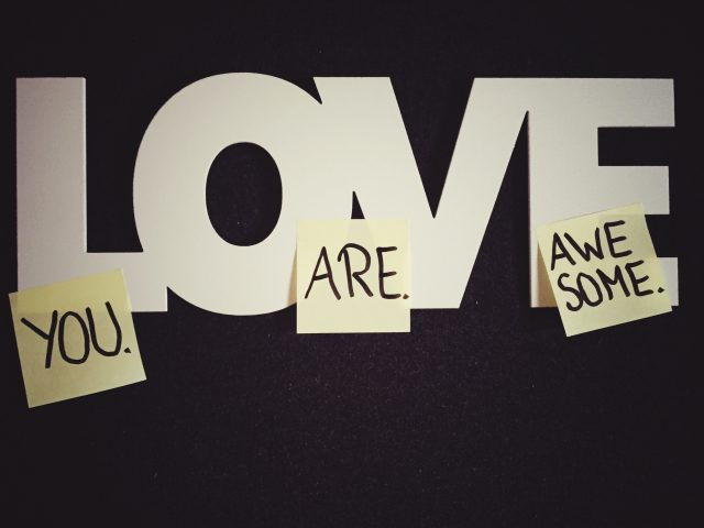 Sticky Notes On Love Text