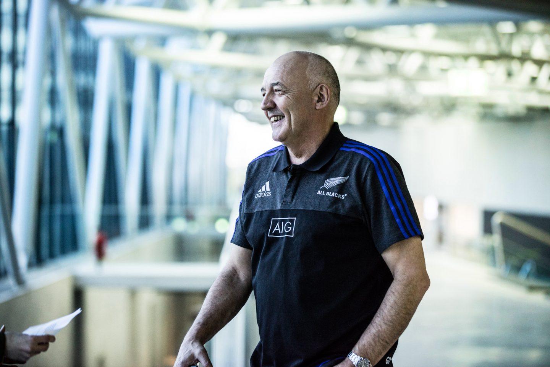 Man laughing during Interview All Blacks Mental Coach Gilbert Enoka talking mental strength vulnerability team spirit