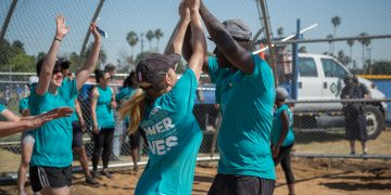 adidas employees beneficence John Muir High-School Jackie Robinson Baseball Field construction