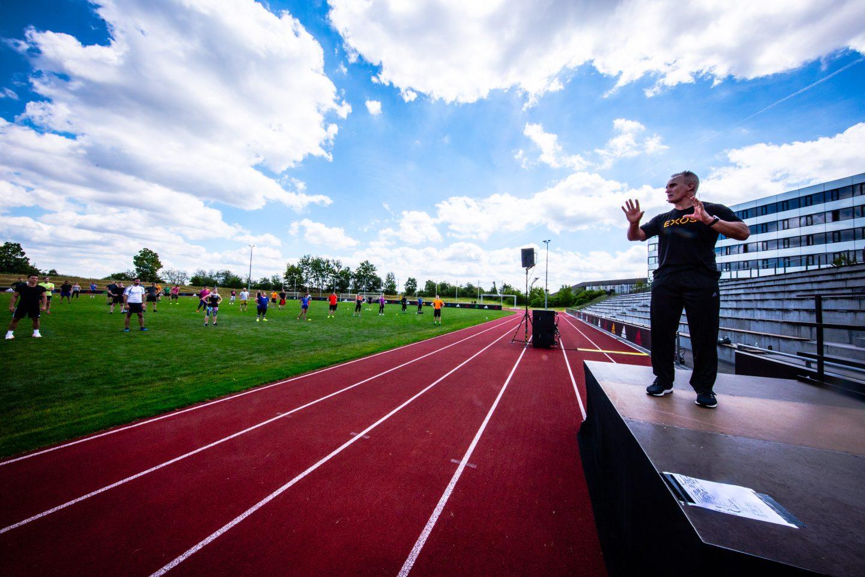 Mark Verstegen EXOS coach adidas headquarter workout instructor productivity tips