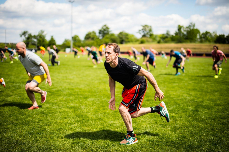 team workout outside Eric Liedtke adidas exos mark verstegen productivity tips