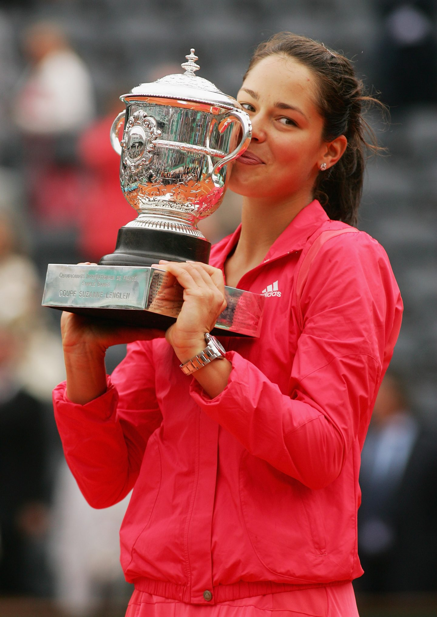 French Open - Roland Garros 2008 Ana Ivanovic champion interview listen to your heart