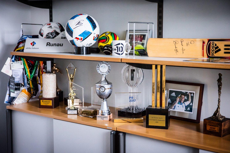adidas-Chief-Press-Officer-desk-motivation-tropies-memories