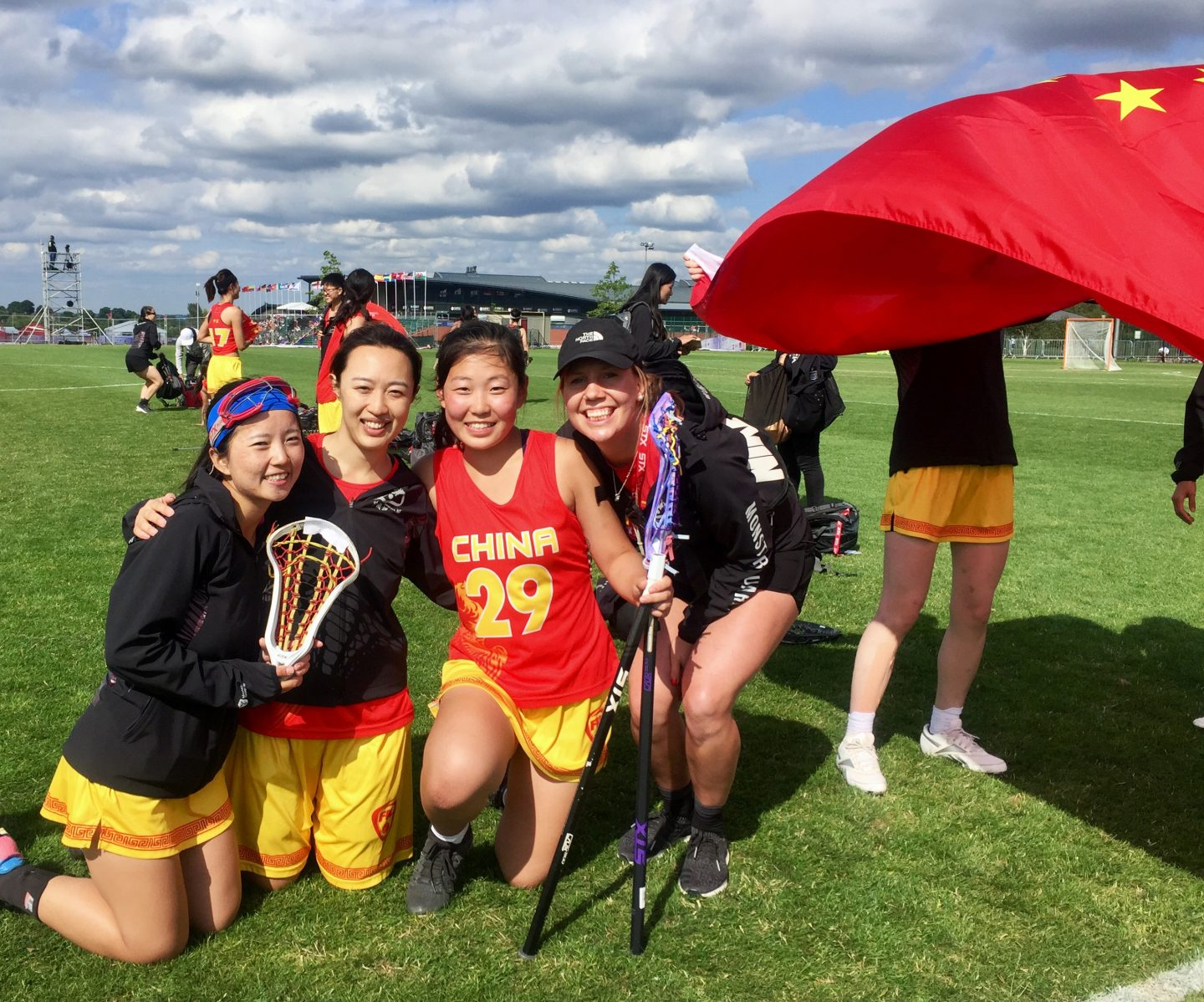 lacrosse player china pose leader journey to world cup