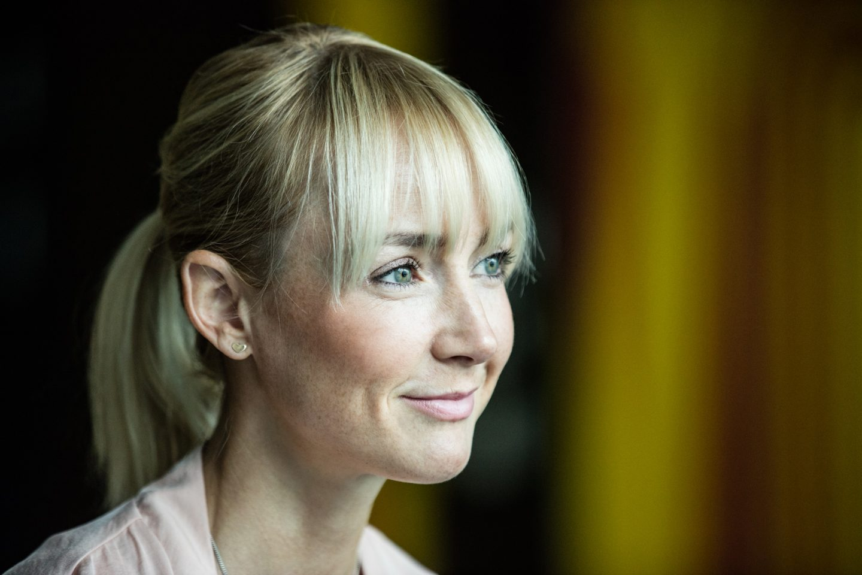 blonde woman smiling anna kleb reebok entrepreneur strala yoga