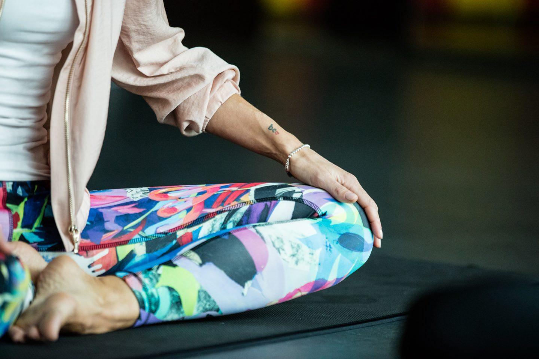 yoga pants and mat Anna Kleb Reebok Entrepreneur Strala Yoga