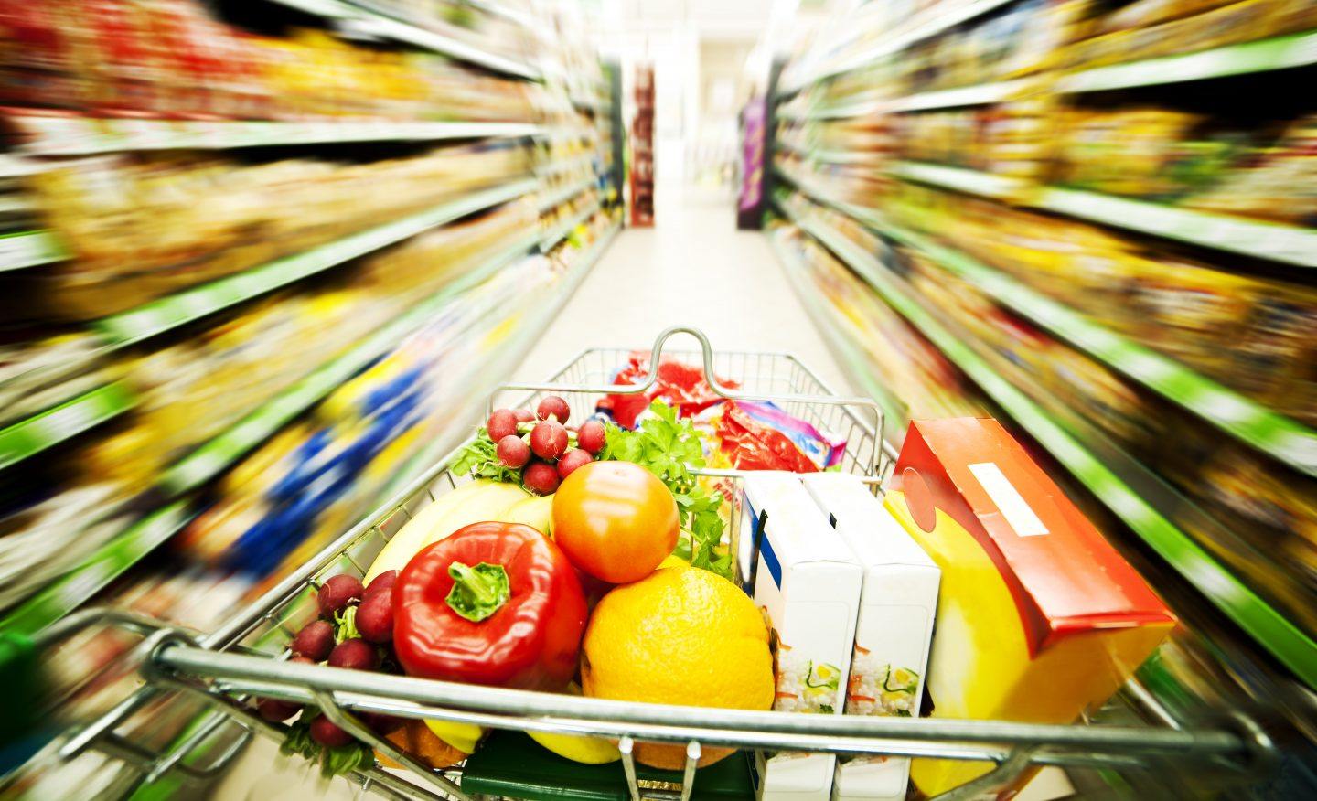 Supermarket trolley with vegetables,grocery shopping, adidas, GamePlan A, nutrition, health, paleo, diet