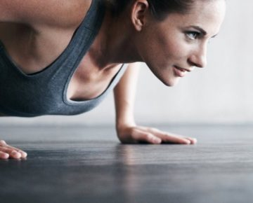Woman doing a push-up keeping focus, woman, entrepreneur, fitness, exercise, motivation, willpower, creativity, ideas, adidas, GamePlan A, Inc
