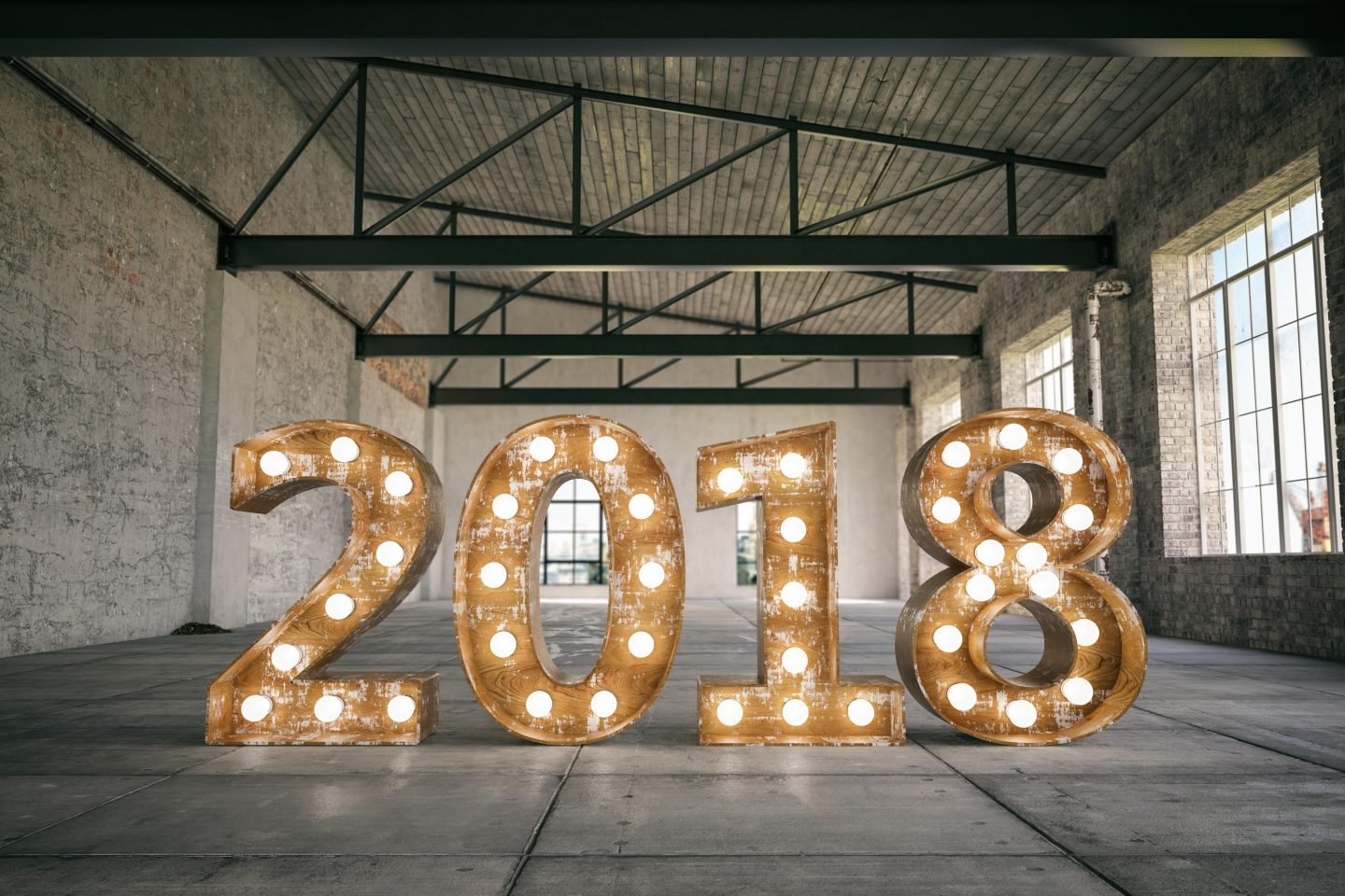 2018 Bulb Sign in Empty Warehouse, career planning tips for the new year, career, business, GamePlan A, self-improvement