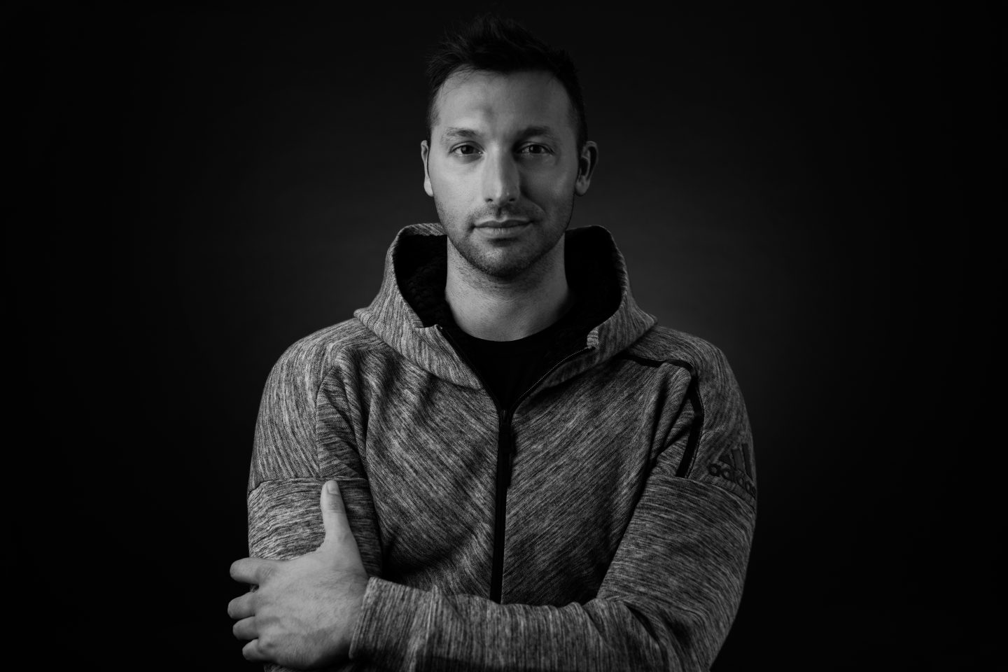 Black and white portrait of Ian Thorpe. Coming out, confidence, mental health, interview, bullies, GamePlan A, youth, support, gay athletes, swimmer, Olympic champion, adidas, GamePlan A